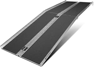 Titan Ramps Portable Wheelchair Ramp Multi-Fold 8 ft Long x 30 in Wide 600 lb Capacity Anti-Slip for Home