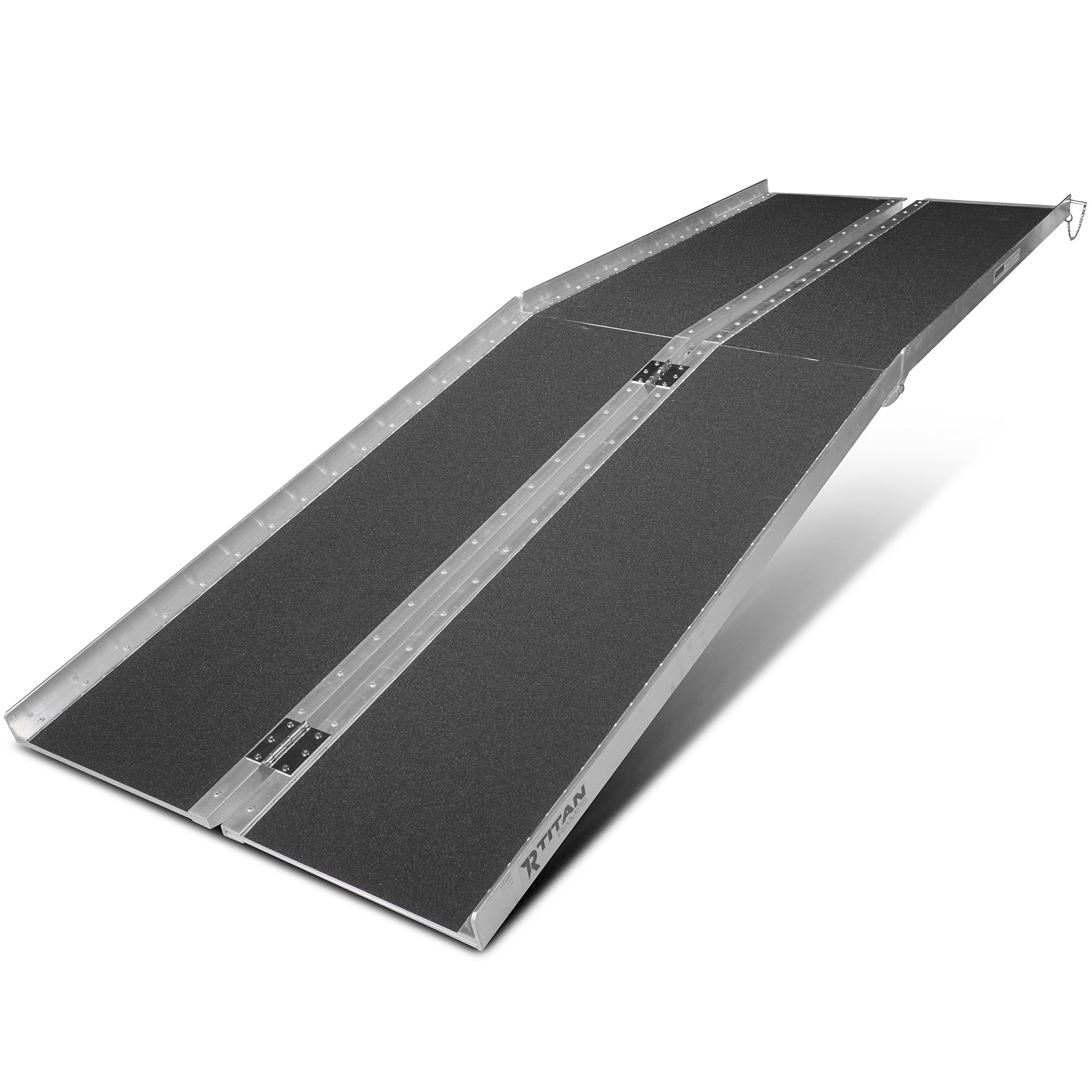 Titan Ramps 8' ft Aluminum Multifold Wheelchair Scooter Mobility Ramp portable 96'' (MF8)