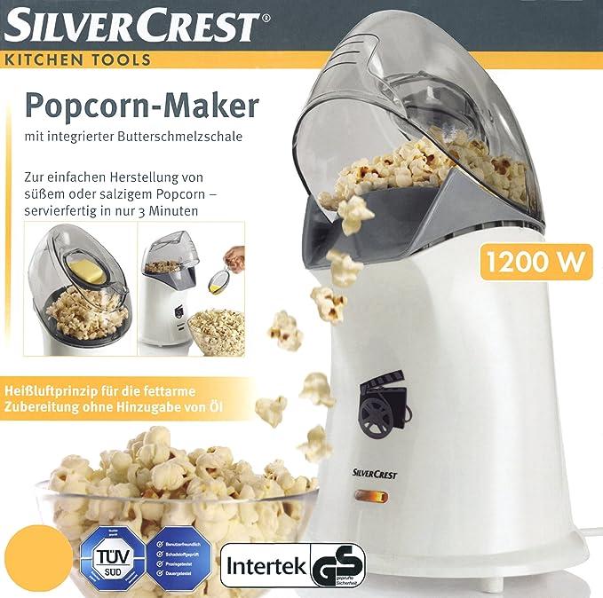 Silvercrest Maker 1200 W de palomitas con mantequilla Fusible ...