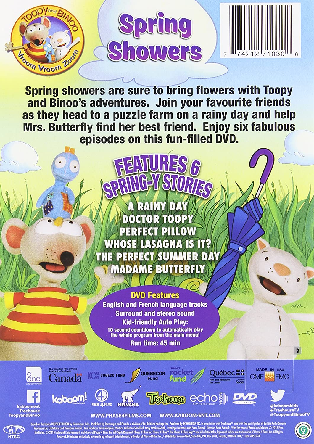 toopy and binoo vvz spring showers bilingual amazon ca