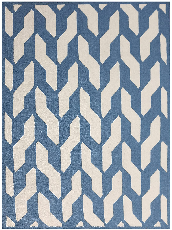 Amazon.com: AMER Zara 25 Flat-Weave Accent Rug, 2x3, Geometric Blue ...