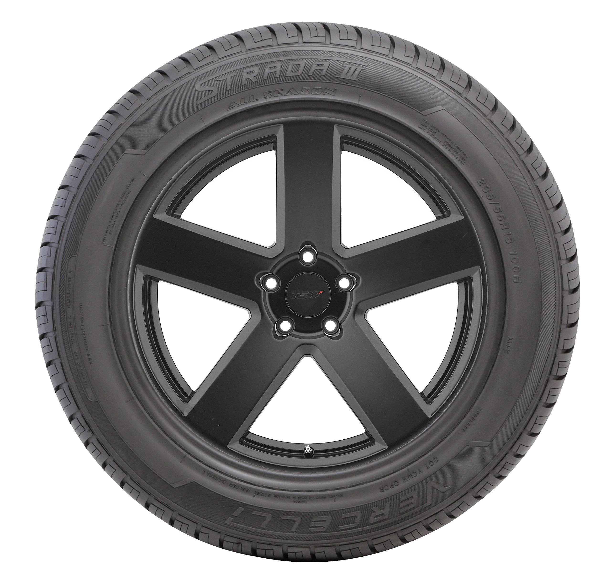 Vercelli Strada III All-Season Radial Tire - 235/55R18 100H by Vercelli (Image #4)