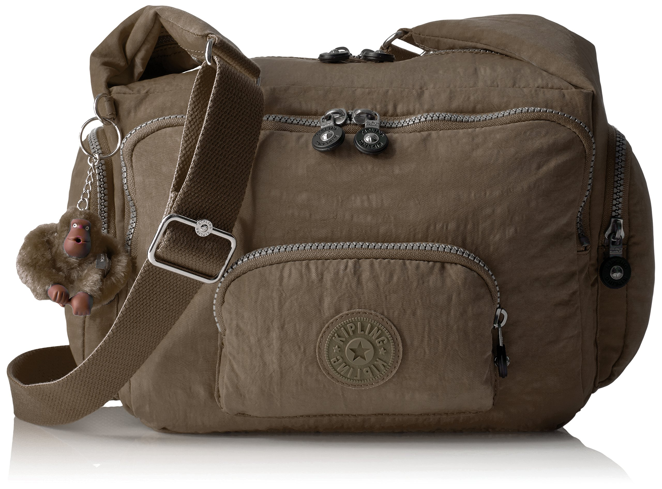 Kipling Erica Solid Crossbody Bag, Soft Earthy Beige by Kipling