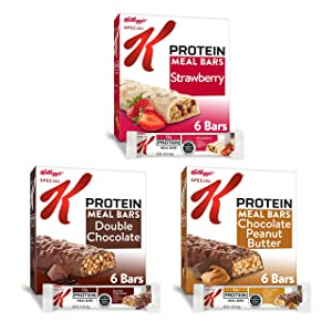 Kellogg's Special K Protein, Meal Bars, Variety Pack, Good Source of 13 Vitamins and Minerals, 1.781lb Case (3 Count)