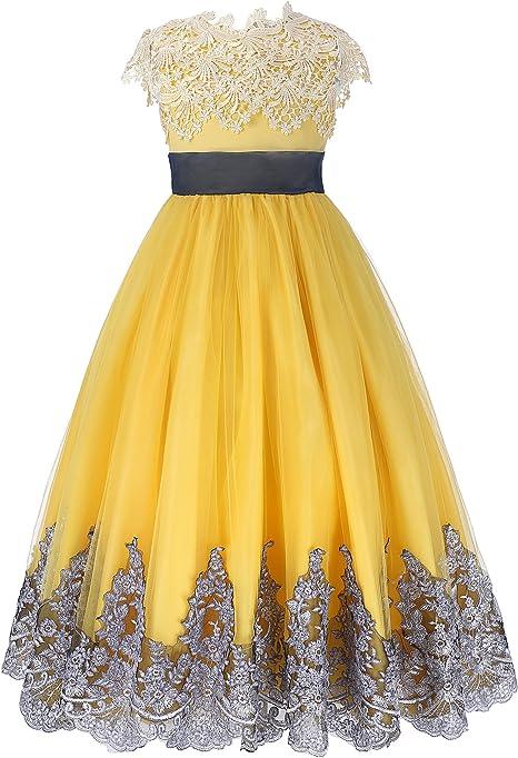 GRACE KARIN Vestito Ragazza Elegante Fiore