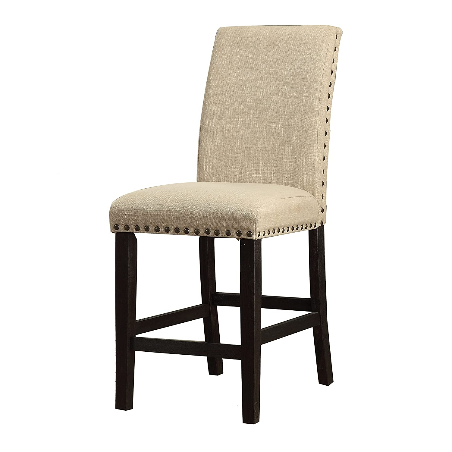 Amazon com homes inside out idf 3466pc black wren counter height chair set of 2 chairs
