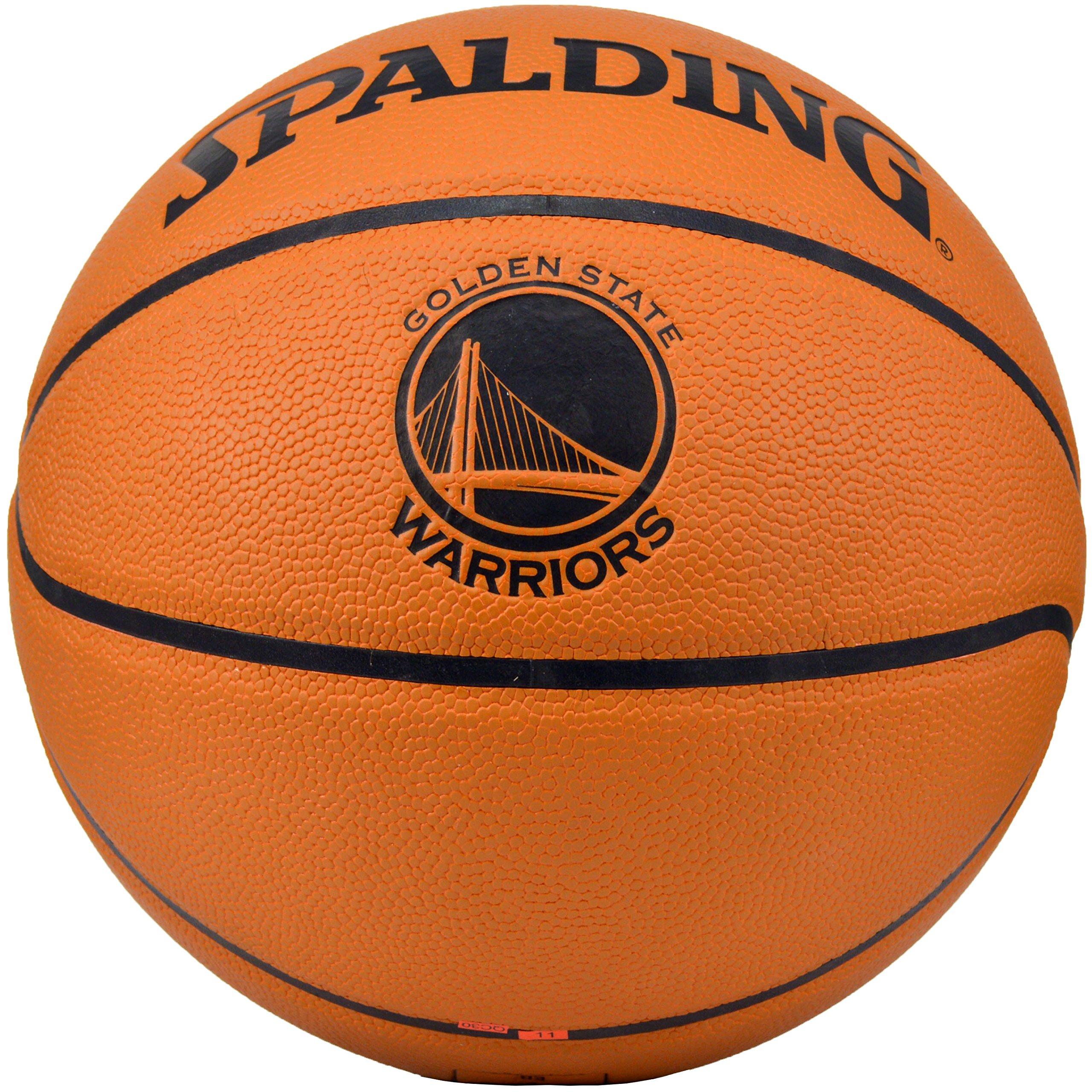 Spalding NBA Golden State Warriors Team Logo Composite Leather Basketball