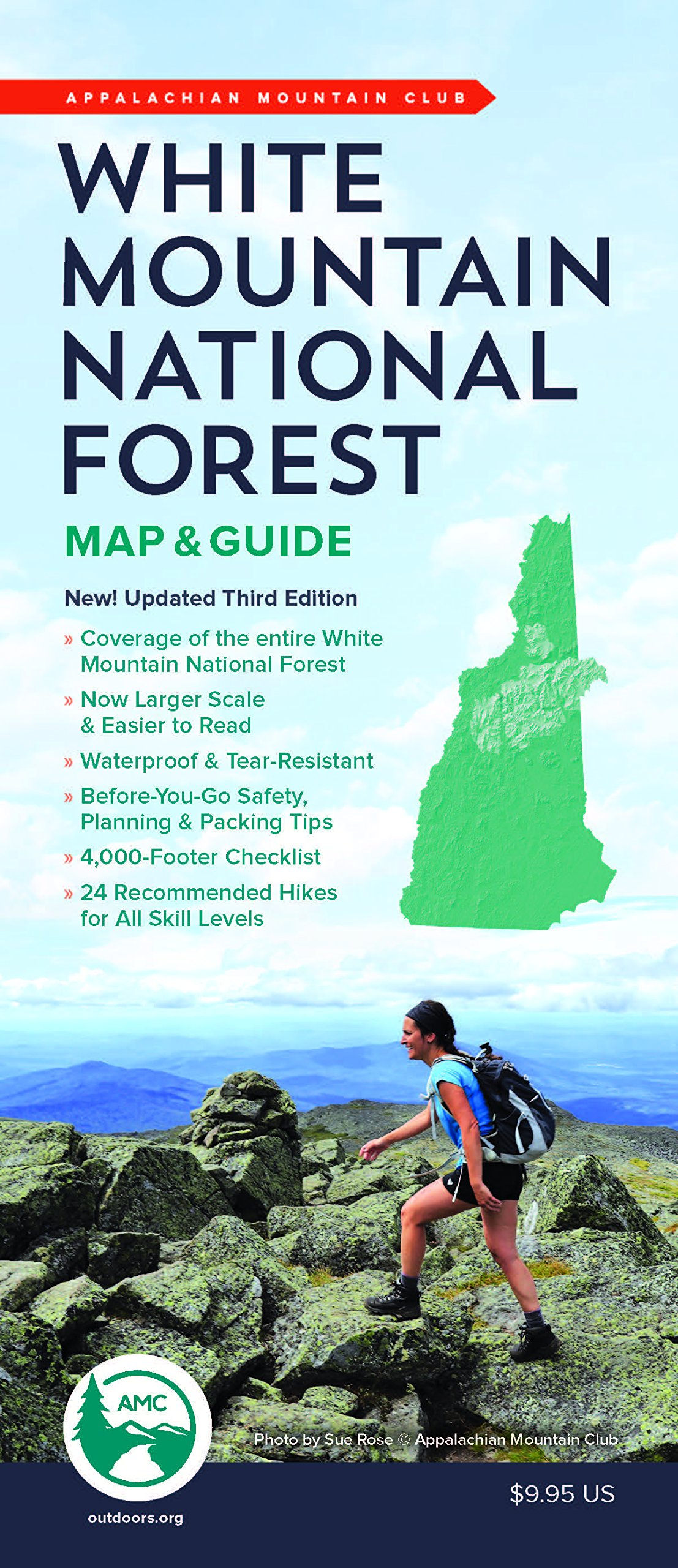 Amc White Mountain National Forest Map Guide Appalachian Mountain - Us-map-with-appalachian-mountains