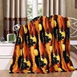 Ultra Plush Christmas & Halloween Themed Fleece Throw Blankets - Assorted Styles (Halloween)