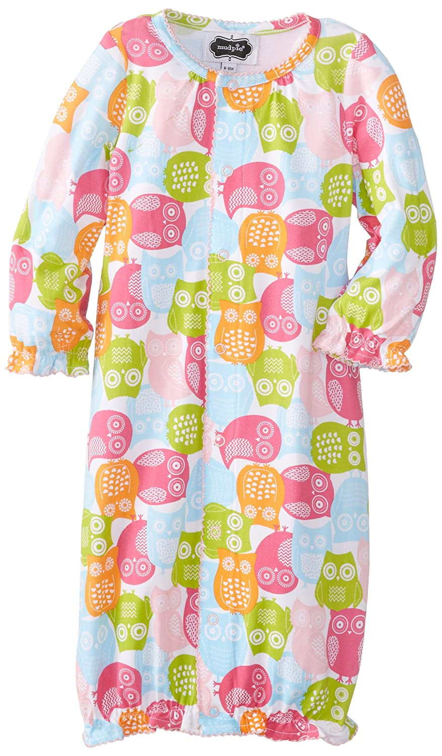 45dc318d0d0 Amazon.com  Mudpie Baby Girl Bamboo Owl Convertible One Piece (6-9M ...