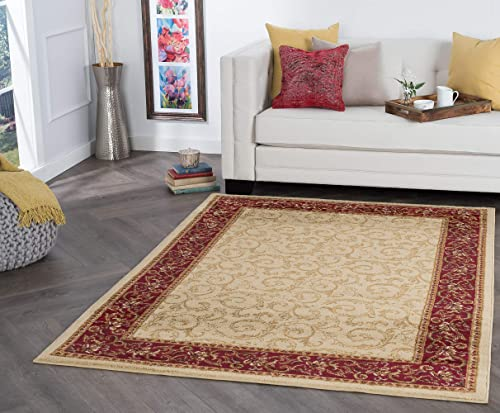 Tayse Westminster Beige 9×13 Rectangle Area Rug
