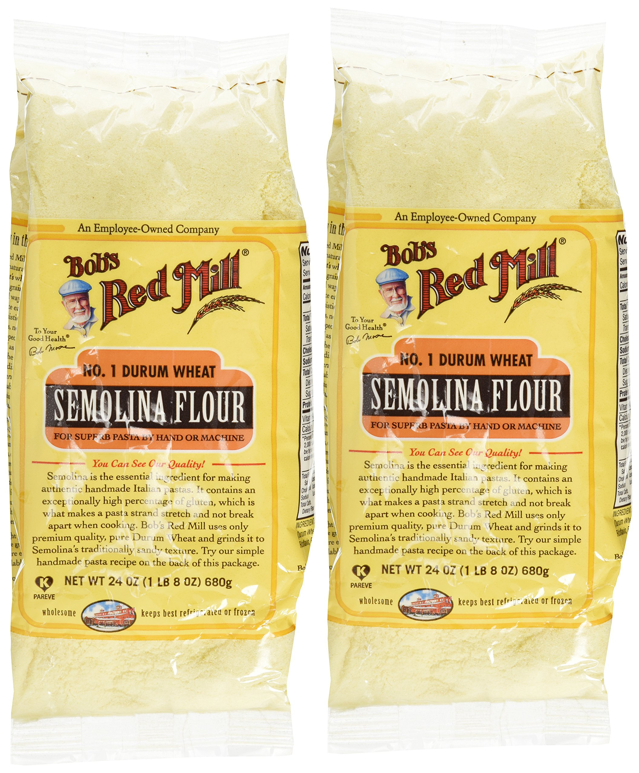 Bob's Red Mill Semolina Pasta Flour - 24 oz - 2 Pack