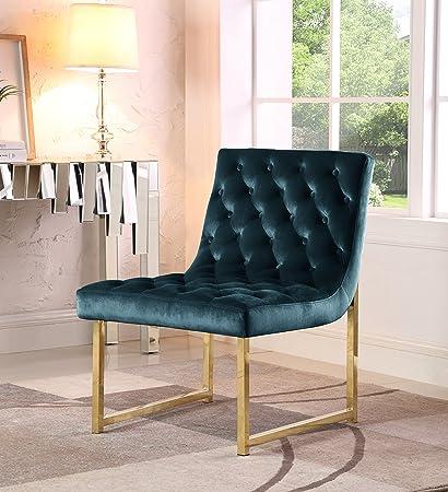 Amazon Com Iconic Home Moriah Accent Chair Sleek Elegant Tufted