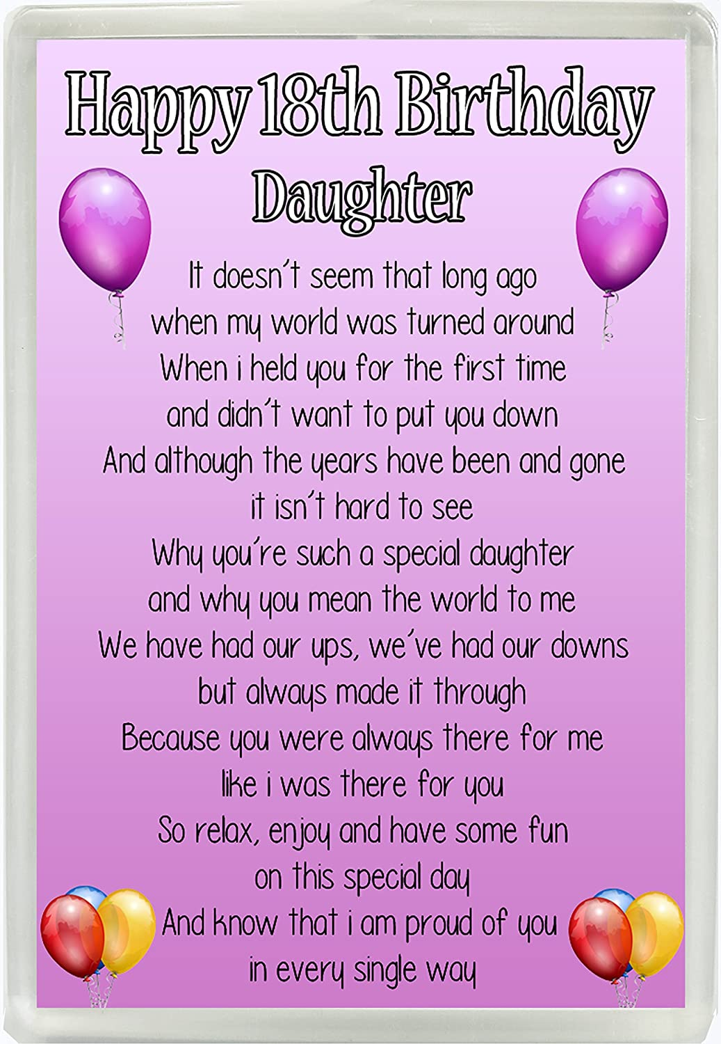 Strange Happy 18Th Birthday Daughter Poem Jumbo Fridge Magnet Ideal Funny Birthday Cards Online Fluifree Goldxyz