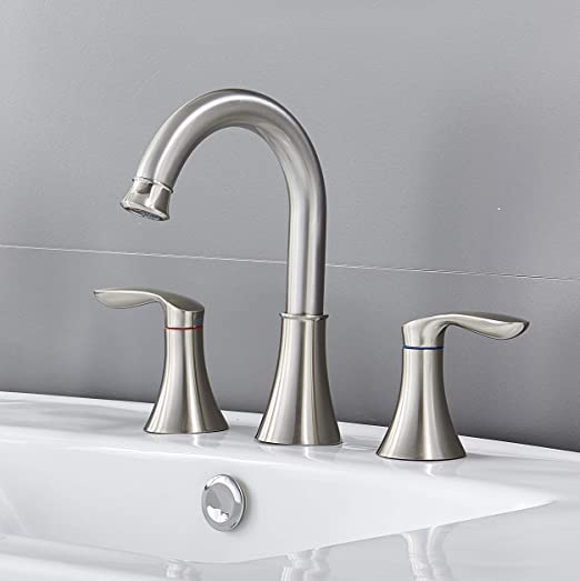 Stainless steel kitchen//bath sink//washbasin faucet brushed 63d
