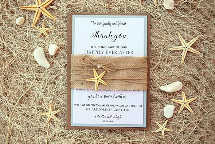 wedding thank you cards beach thank you cards bridal shower thank you notes