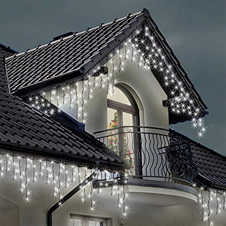 Icicle lights 220 led bright white indoor outdoor christmas lights icicle lights 220 led bright white indoor outdoor christmas lights fairy lights 7m 23 aloadofball
