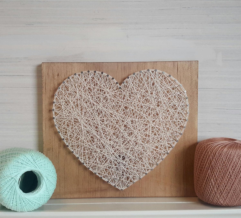 Amazon Com String Art Wooden Heart Wall Art Handmade