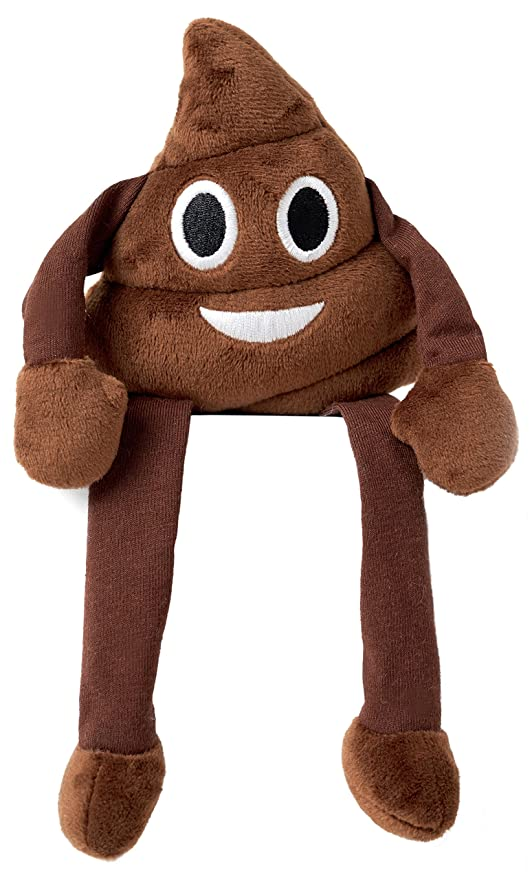Love Bomb Cushions Emoji Cushion Shelf Buddy - Poo Face (Dispatched From UK)