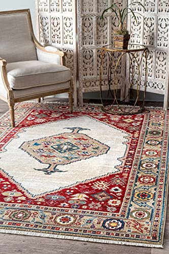 nuLOOM Murrell Medallion Area Rug, 8 x 10 , Off-White