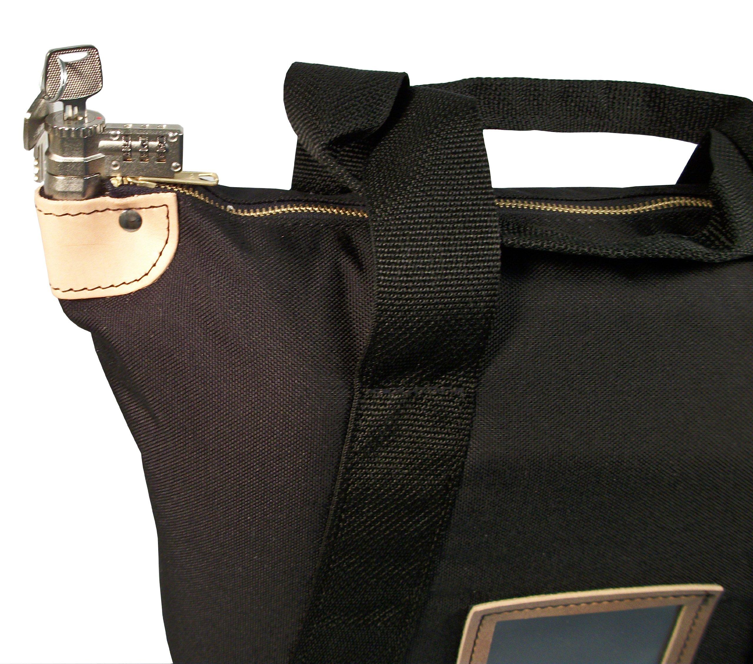 Locking Courier Bag 1000 Denier Nylon Combination Lock Black by Cardinal Bag Supplies (Image #2)