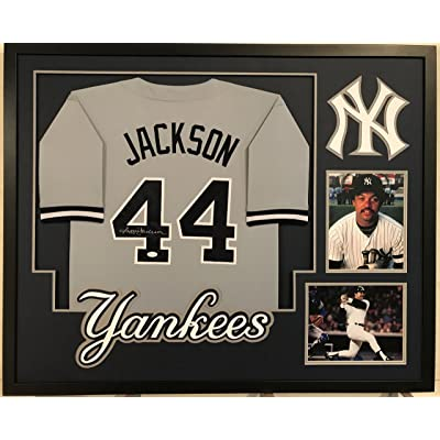 finest selection 4b034 50bdd Reggie Jackson Autographed Custom Framed New York Yankees ...