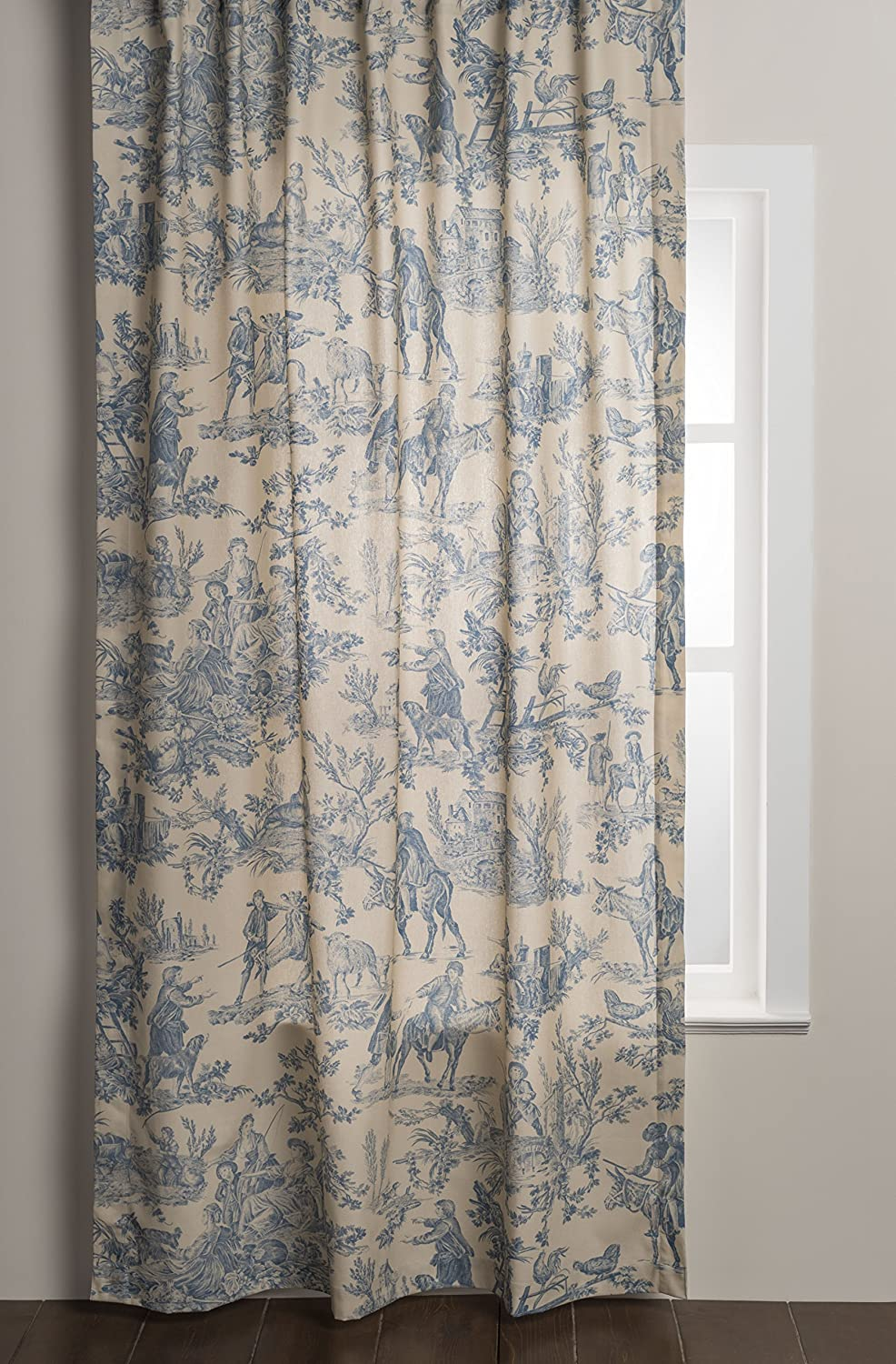 Blue French toile curtain panel. #frenchtoile #curtains #panels #frenchcountry #homedecor #windowtreatment