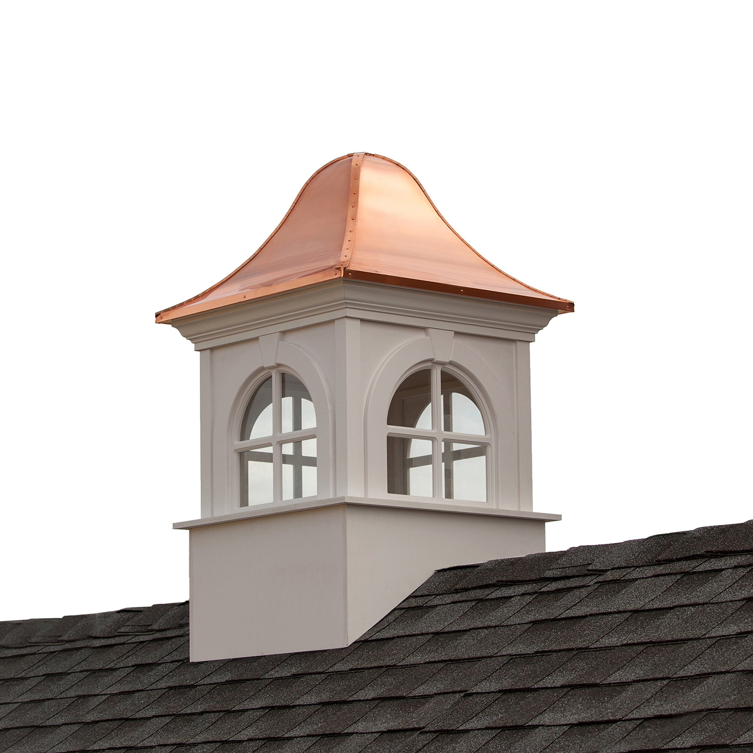 Smithsonian Washington Vinyl Cupola with Copper Roof 26'' x 42'' by Good Directions