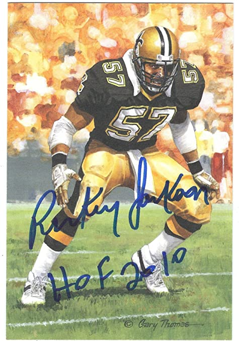 Autographed Rickey Jackson New Orleans Saints Goal Line Art Card at ... 53e13327a