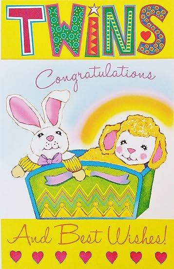 Amazon.com: Twins – felicitaciones y mejores deseos, bebé ...