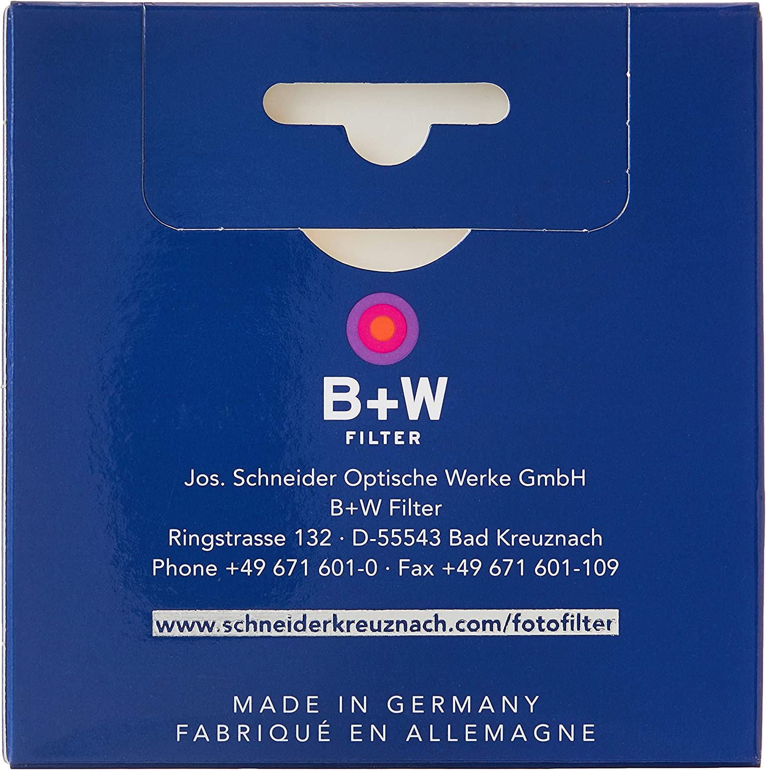 B+W 55mm Slim-Line Clear with Multi-Resistant Coating 007M