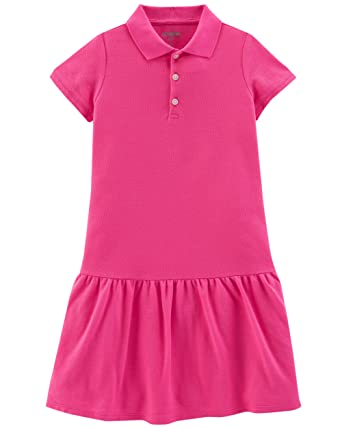 baf5b6b8 Amazon.com: OshKosh B'Gosh Girls' Uniform Polo Dress: Clothing
