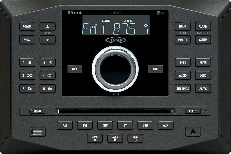 Jensen Jwm60a Am Fm Dvd Cd Usb Aux App Ready Bluetooth Concertone Wiring Diagram Wallmount Stereo With Control Plays R Rw Mp3