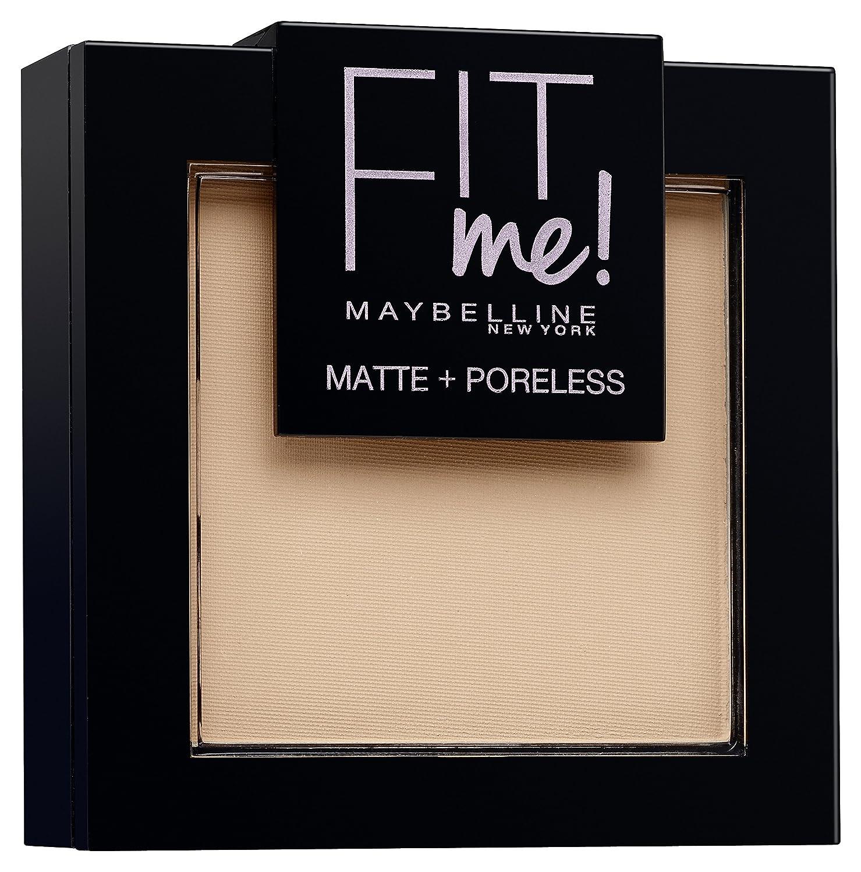Maybelline Fit Me! Matte + Poreless Powder Nr. 220 Natural Beige, mattierendes Puder, passt sich dem Hautton an, lässt den Teint strahlen ohne die Poren zu verstopfen, für ein makelloses Finish, 9 g 3600530751372