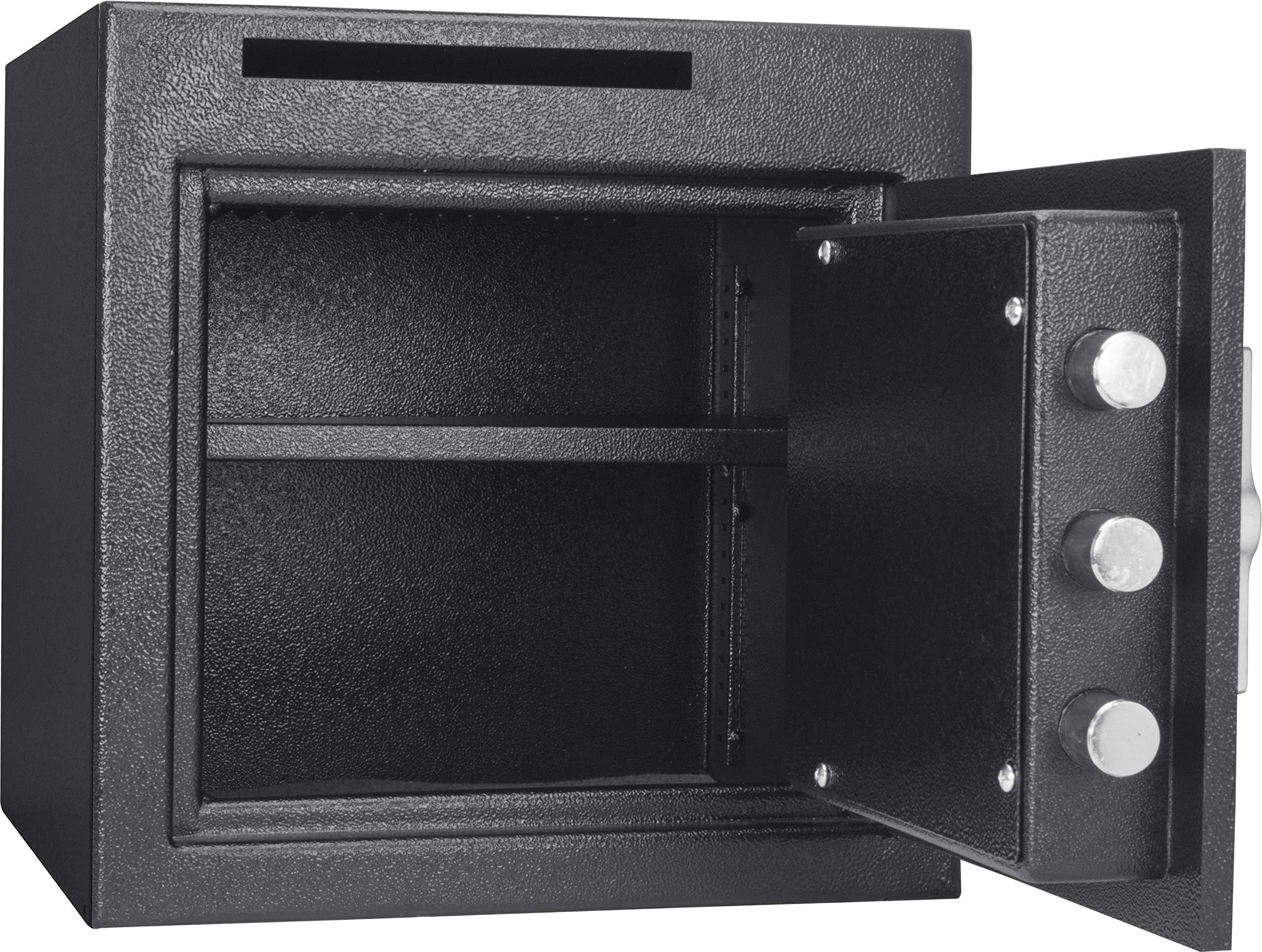 Winbest Steel Digital Keypad Cash Drop Front Loaded Depository Safe Drop Box Storage 1.12 Cubic ft by winbest (Image #2)