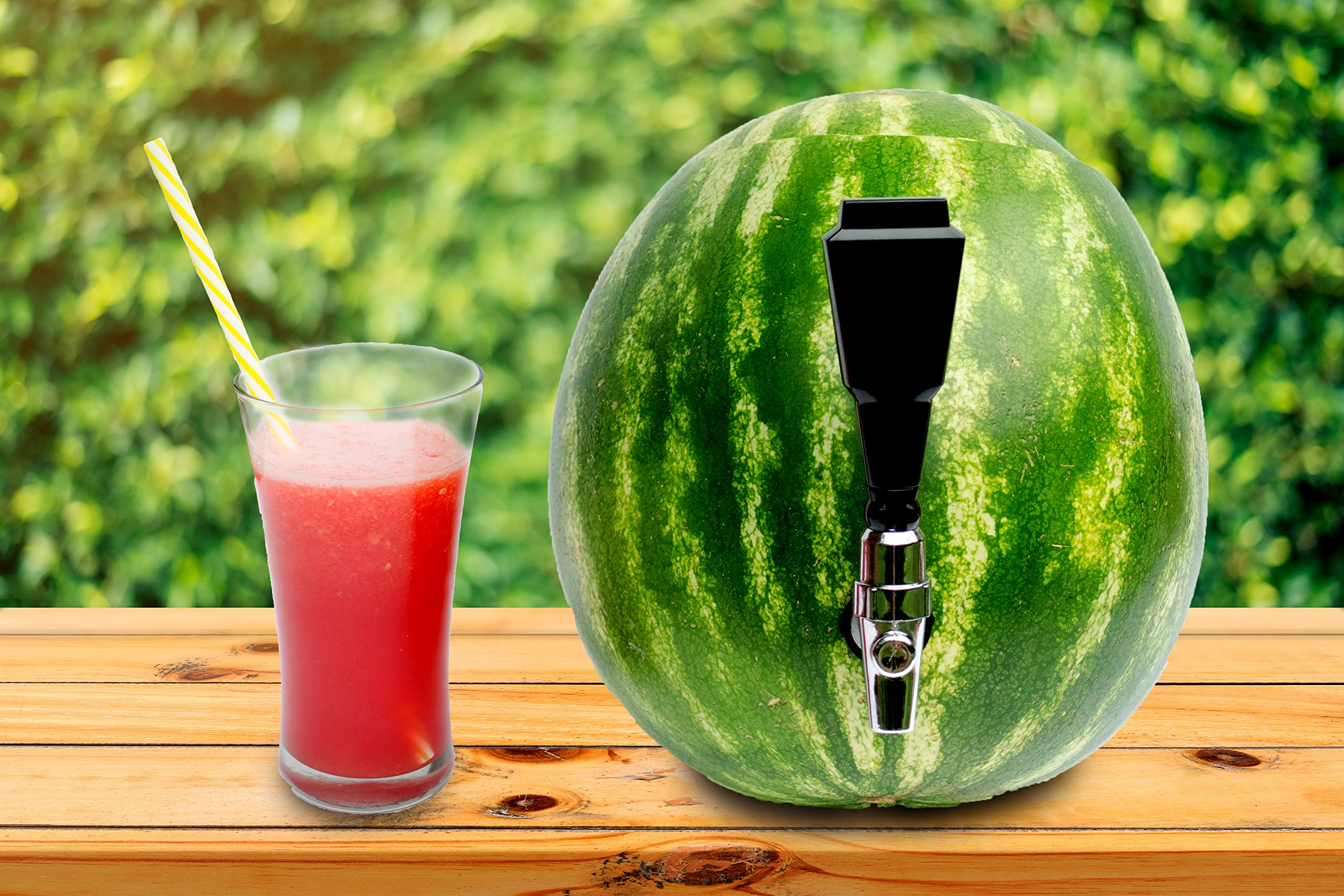 Fruit Keg Tapping & Spout Kit: Stainless Steel Drink Dispenser Set for Watermelons & Other Fruits - Fun Home Bar Gadgets & Cocktail Party Supplies by Still Valley