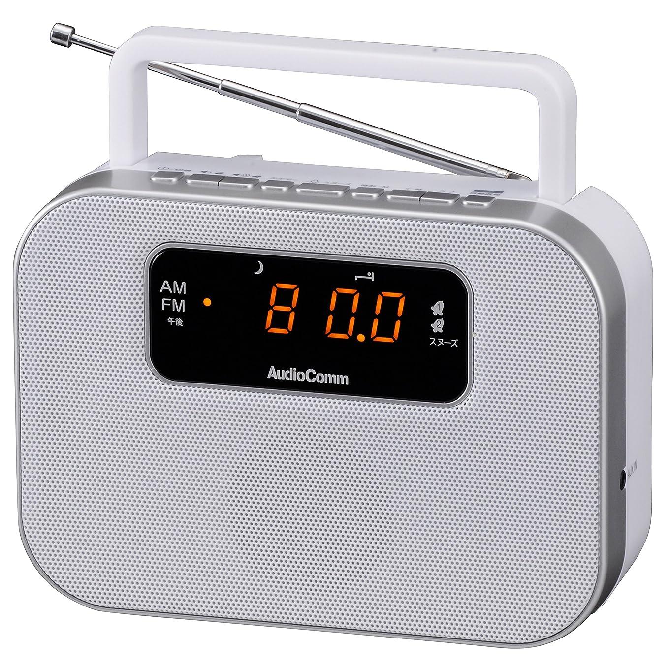 例外先駆者兵隊SONY FM/AMデジタルクロックラジオ ICF-C470