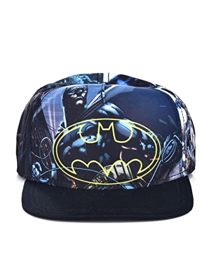 af591f13 DC Comics The Joker Hahaha Batman Logo Sublimated Bill Snapback (Youth,  Youth - Black