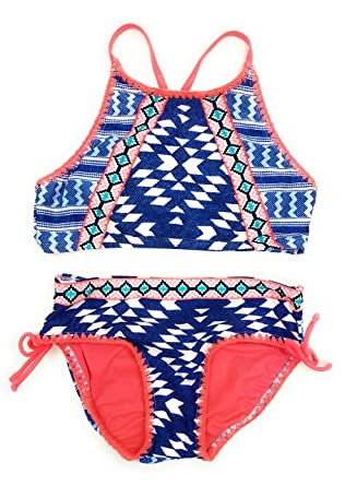 8eed257755458 Justice Girls Bikini 2-Piece Bathing Suits Multiple Colors & Sizes Swimwear  (Blue Orange