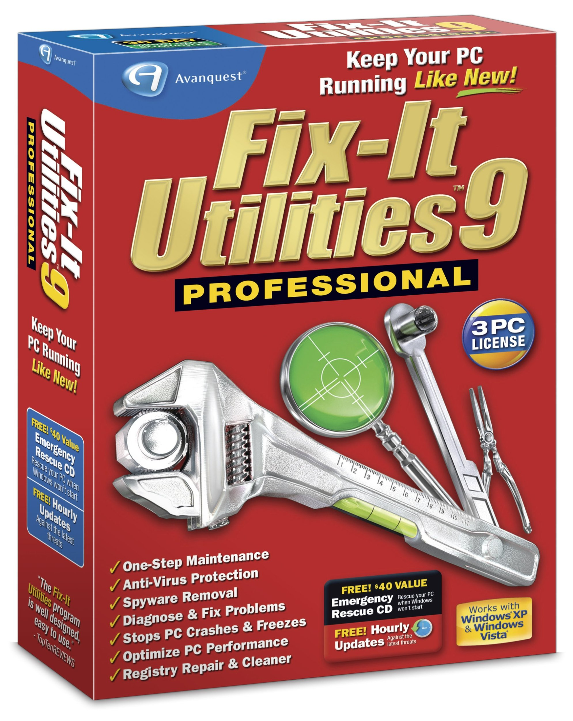 Fix-It Utilities 9 Professional by Avanquest