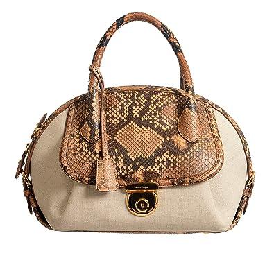 Amazon.com  Salvatore Ferragamo Women s Python Multi-Color Handbag Shoulder  Bag  Shoes 048d6da03f