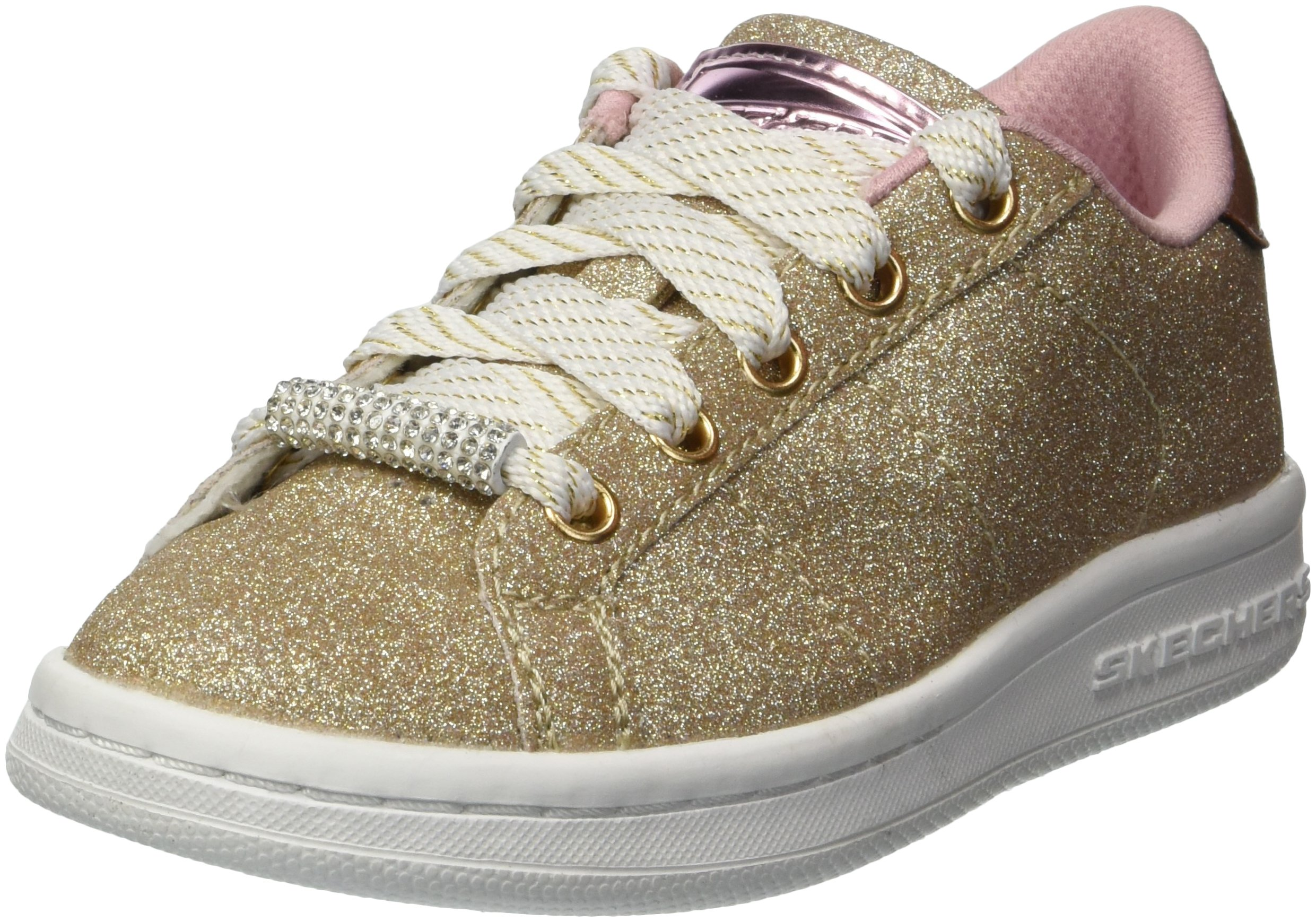 Skechers Kids Girls' Omne-Shimmer Street Sneaker,Gold,