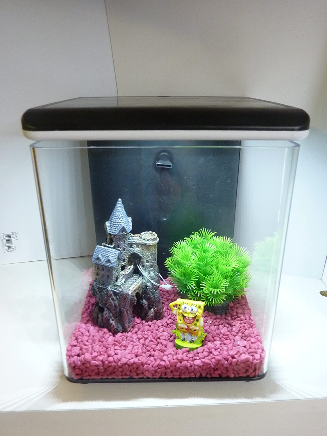 Mini 8 Fish Tank, Complete Home Aquarium, With Filter & L.E.D Light, Perfect for Minnows, Shrimp (Decor sold seperately)