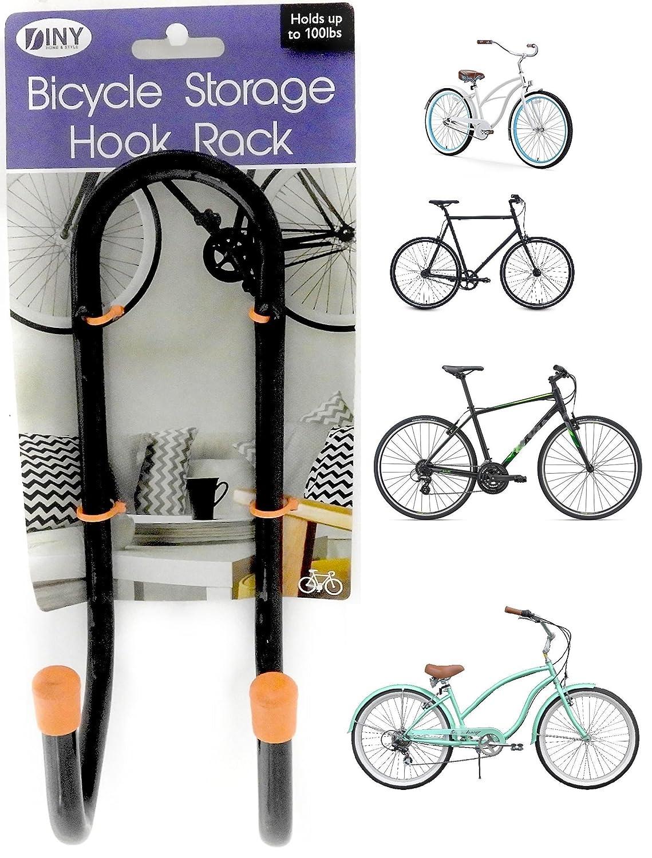 Charmant Amazon.com : DINY Home U0026 Style Bicycle Storage Hook Rack Hanger Holds A Bike  Up To 100 Lbs : Sports U0026 Outdoors