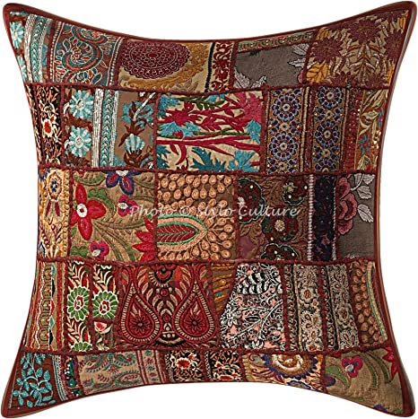45x45cm Decorative made velvet old Pillow Cushion cover made from Vintage Turkish 1,6x1,6