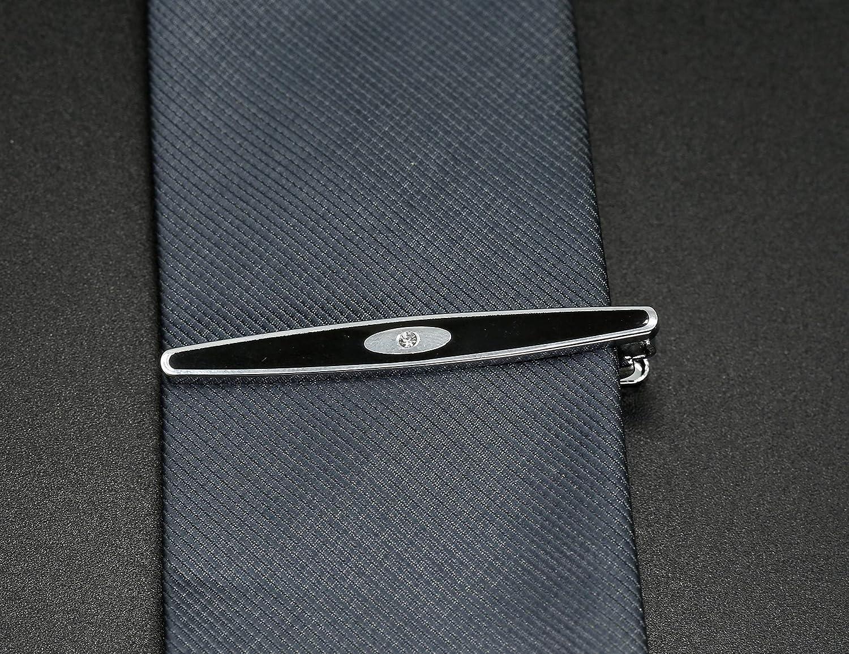 Milacolato Tie Clip y Conjunto de mancuerna para Hombre Corbata Tie Bar Clips Gemelos Camisa Negocio de la Boda con Caja Regalo del d/ía del Padre