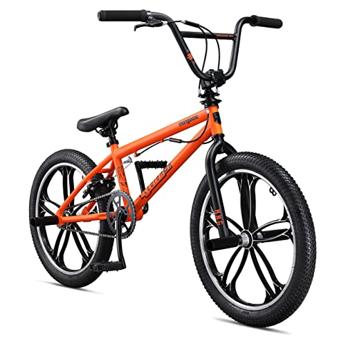 "Mongoose Legion Mag 20"" Wheel Freestyle Bike, Orange, One Size"