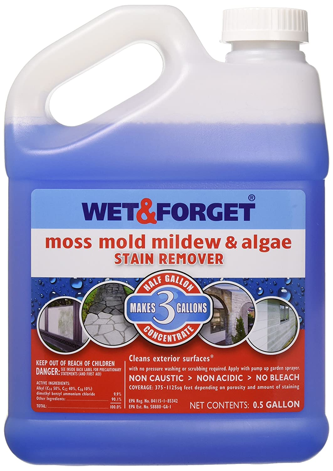 Wet And Forget 800003 And Moss Mold Mildew Amp Algae Stain