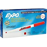 EXPO Original Dry Erase Markers, Fine Point, 12-Pack, Red