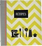 """C.R. Gibson Recipe Book, Durable 3-Ring Binder, Holds 40 Recipe Cards Measuring 4"""" x 6"""", Book Measures 9"""" x 9.5"""" − Kitchen Gear"""